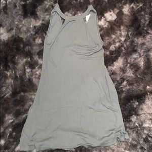 American Eagle olive green halter top dress